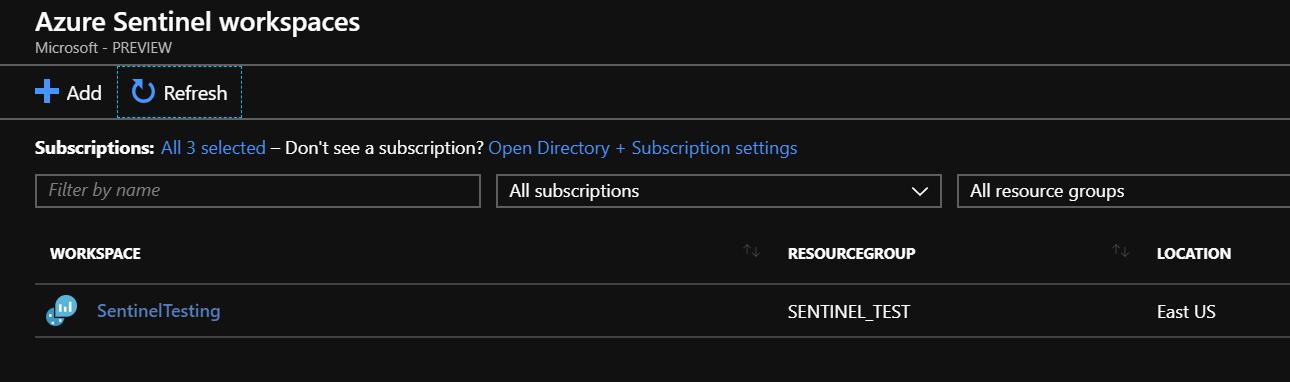 Azure Sentinel Configuration - CloudCompanyApps
